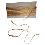 Opulent French gold metallic thread passementerie trim : unused old stock : projects ( no.2 )