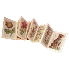 Charming old French Sajou Berlin work : tapestry : embroidery album: : dog  bird floral patterns