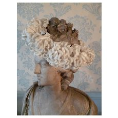 Delicious old communion crown plump silk and fabric roses