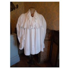 Antique French hand made white frou-frou ladies  déshabillé : boudoir gown