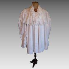 Antique French hand made white frou-frou ladies  déshabillé : boudoir gown