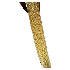 Superb unused roll old French gold metallic passementerie trim : galon : 29.5 meters : projects
