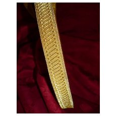 Superb unused roll old French gold metallic passementerie trim : galon : 30 meters : + 32 yards : projects