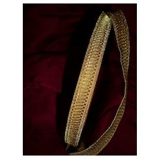 Superb unused roll old French gold metallic passementerie trim : galon : 29.30  meters : over 31 yards : projects