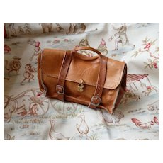 Charming small leather bag  : doll size