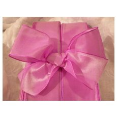 Shimmering vintage French pink / mauve pearl effect ribbon : doll projects : 3 yard  lengths