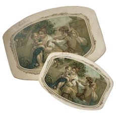2 delightful French Christening dragees boxes  : Andrée  13th August 1922 : FREE SHIPPING