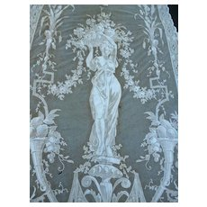 Stunning 19th C. French Cornely Chateau curtain drape  for cutting or recuperation : projects