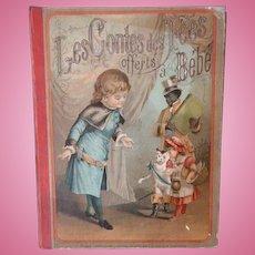 Charming French fairy story hard back book : Bebe : circa 1880