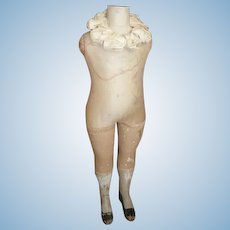 Rare antique French Stockman miniature child mannequin dummy : paspop : 34 inches : 86.5 cms high : circa 1900