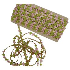 Delicious vintage French pink green Rococo ribbon trim : doll projects :  2 YARD LENGTHS