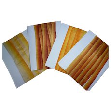 Collection antique French silk ombre ribbons : yellow orange russet tones : doll projects : 8 meters