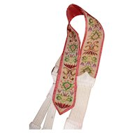 Decorative 19th C. hand made & embroidered gentleman's brace : collection : document : reworking