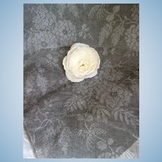 Morceau old French black tarlatan stiffening fabric : doll's clothing projects
