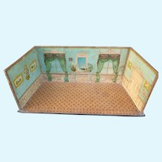 Elegant 19th C. French salon miniature doll's room : mignonette