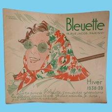 Interesting Bleuette doll clothing & accessory catalogue : Winter  1938 - 39 : Gautier - Languereau