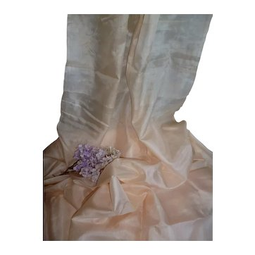 Ethereal palest apricot silky organza fabric : unused : Jumeau doll clothing projects :  36 inches