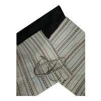 Collection antique French silk textiles : fabrics : narrow trim : fashion doll costume projects