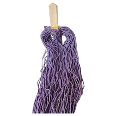 Skein fine French violet canntille metal wire spiral trim : 1/16th inch diameter : old factory stock : doll projects