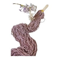 Skein decorative pink cannetille spiral metal wire : old French factory stock : doll , toy projects : 1/16 th inch diameter