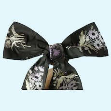 Delicious antique French ribbon bow : floral and foliage bouquets : doll's sewing projects