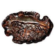 J. Fischer Bronze Desk Tray w/Tiger for the Gentleman