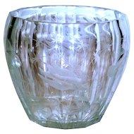 The Finest Cut & Engraved Etched Antique Vase w/Goldfish