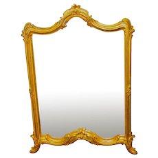 Antique French Ormolu Rococo Table Top Easel or Wall Mirror