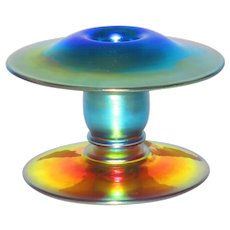 Durand Iridescent Art Glass Candlestick