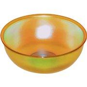 L.C. Tiffany Favrile Glass Golden Iridescent Finger Bowl