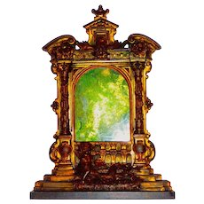 19th C Bronze & Marble Baroque Style Tabernacle Frame
