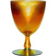 L.C. Tiffany Favrile Glass Golden Iridescent Chalice