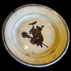 Hallloween Wiccan Plate Transferware reserved for Jane