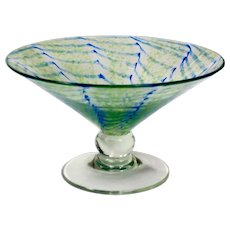 Nash Chintz Art Glass Footed Bowl