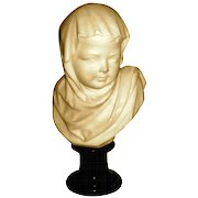 Fine Quality Carved Marble Bust of Young Child