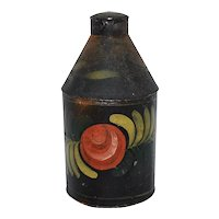 19th Century Tin Toleware Canister