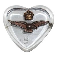 WWII British RAF Lucite Heart Sweetheart Pin