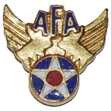 Small WWII Army Air Forces Clutchback Enameled Pin