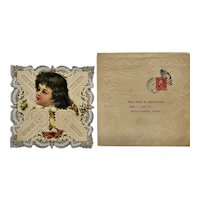 Victorian Layered Valentine and Embossed Envelope