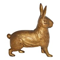 Very Scarce 1910 A .C. Williams Cast Iron Standing Rabbit Bank