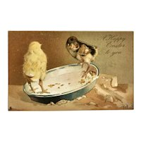 Victorian Easter Postcard - Printed in Germany