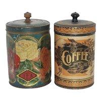 Vintage Rose Motif Lithographed Tea Tin