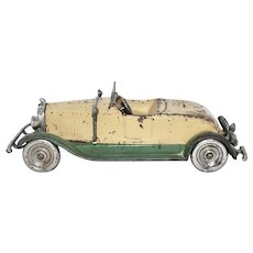 """Rare 1930 10"""" Kilgore Cast Iron Toy Pontiac"""