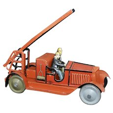 1920's French JEP Tin Lithographed Toy Fire Truck