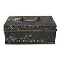 Antique 19th Century Metal Document/Valuables Box