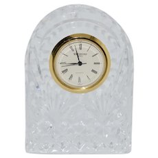 Waterford Cut Crystal Small Dome Cottage Clock.