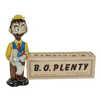 1940's Marx Tin Litho B. O. Plenty & Sparkle Plenty Wind-up Toy w/ Box