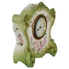 "Antique German ""ROYAL BONN"" Porcelain - Ansonia Desk Clock- Good Working Condition"