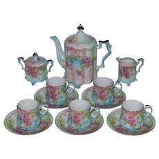 Vintage Porcelain R. S. Suhl Chocolate/Coffee/Tea Set -16 Pieces