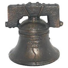 Vintage Toy Cast Iron Liberty Bell Bank